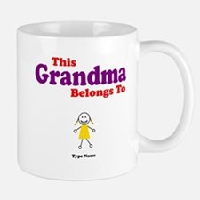 This Grandma Belongs Granddau Mug
