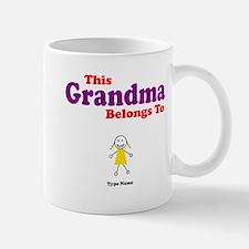 This Grandma Belongs Granddau Small Small Mug