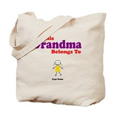 This Grandma Belongs Granddau Tote Bag