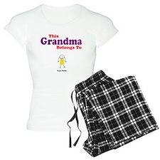 This Grandma Belongs Granddau pajamas