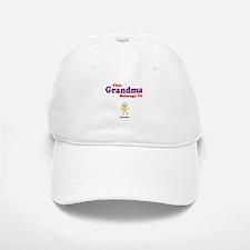 This Grandma Belongs Granddau Baseball Baseball Cap