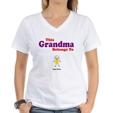 This Grandma Belongs Granddau Shirt