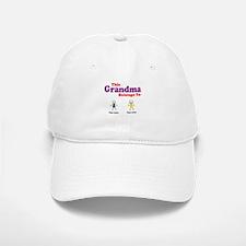 This Grandma Belongs 2 Two Baseball Baseball Cap