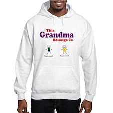 This Grandma Belongs 2 Two Hooded Sweatshirt