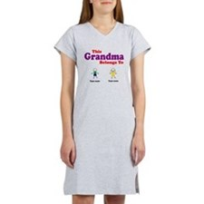This Grandma Belongs 2 Two Women's Nightshirt