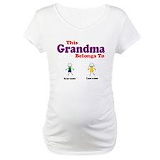 This Grandma Belongs 2 Two Maternity T-Shirt