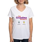 Grandkids names Womens V-Neck T-shirts