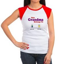 This Grandma Belongs 2 Two Women's Cap Sleeve T-Sh