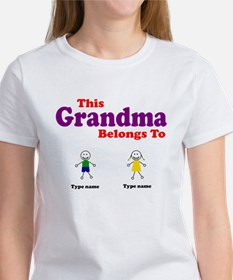 This Grandma Belongs 2 Two Women's T-Shirt