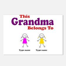 This Grandma Belongs 2 Two Postcards (Package of 8