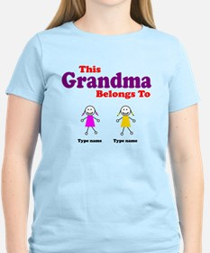 This Grandma Belongs 2 Two T-Shirt