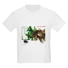A is for Artist Kids T-Shirt