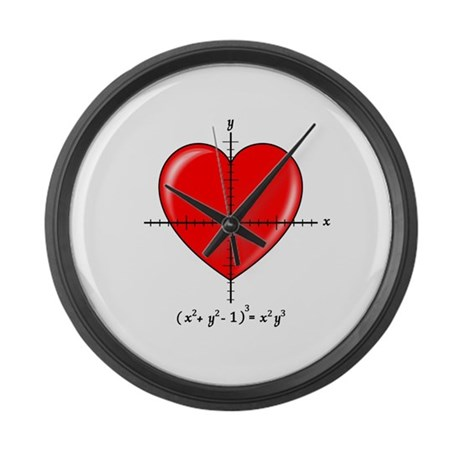 Heart Large Wall Clock