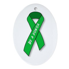 Oval Ornament Be A Donor ribbon