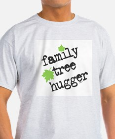 Family Tree Hugger Ash Grey T-Shirt
