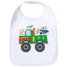 1st Birthday Monster Truck Bib