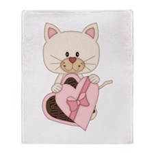 Sweetheart Cat Throw Blanket