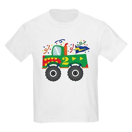2nd Birthday Monster Truck Kids Light T-Shirt