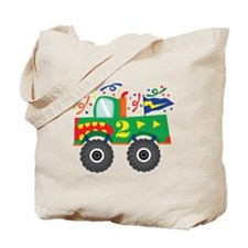 2nd Birthday Monster Truck Tote Bag