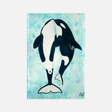 Kissing Orca Rectangle Magnet