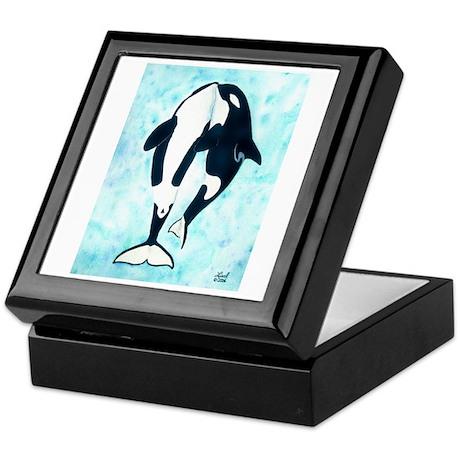 Kissing Orca Keepsake Box