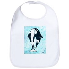 Kissing Orca Bib