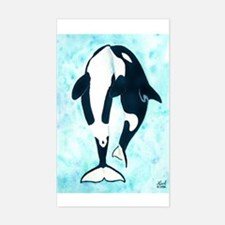 Kissing Orca Rectangle Decal