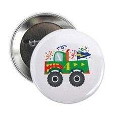 "4th Birthday Monster Truck 2.25"" Button"