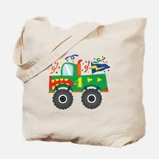 4th Birthday Monster Truck Tote Bag