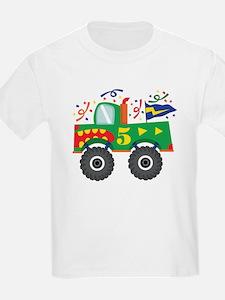 5th Birthday Monster Truck T-Shirt