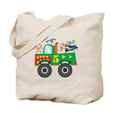 5th Birthday Monster Truck Tote Bag