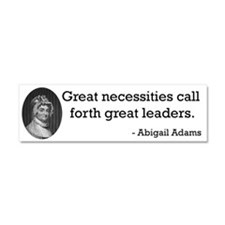 Abigail Adams Car Magnet 10 x 3