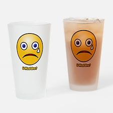 U Mad Bro Smiley Drinking Glass