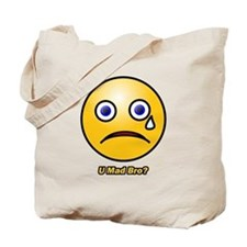 U Mad Bro Smiley Tote Bag