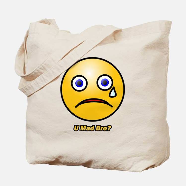 U Mad Bro Smiley Tote Bag