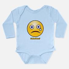 U Mad Bro Smiley Long Sleeve Infant Bodysuit