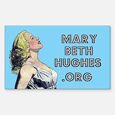 Mary Beth Hughes.org Rectangular Decal