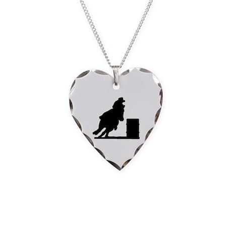 Barrel Racing Necklace Heart Charm