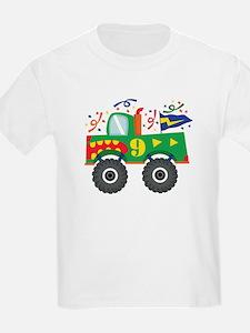 9th Birthday Monster Truck T-Shirt