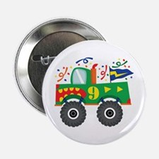 "9th Birthday Monster Truck 2.25"" Button"