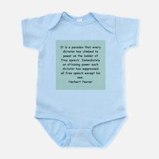 herbert hoover Infant Bodysuit