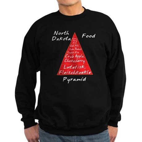 North Dakota Food Pyramid Sweatshirt (dark)