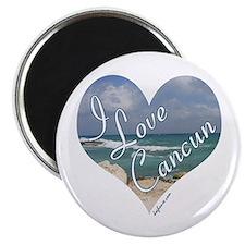 "I Love Cancun Heart 2.25"" Magnet (10 pack)"