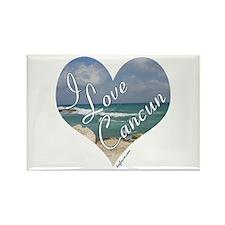 I Love Cancun Heart Rectangle Magnet