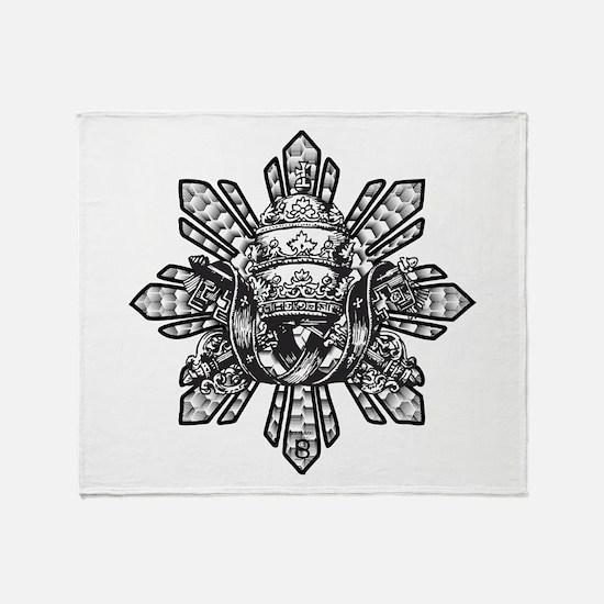 FILIPINO CROWN N KEYS Throw Blanket