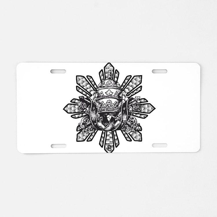 FILIPINO CROWN N KEYS Aluminum License Plate