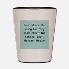 herbert hoover Shot Glass
