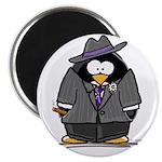 Mobster penguin Magnet