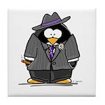 Mobster penguin Tile Coaster