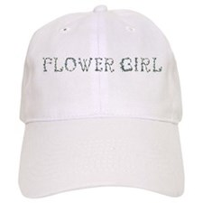 Cute Floral Flower Girl Baseball Cap